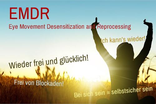 EMDR ist eine effektive und gezielte Stimualation der Hirnhaemispaehren zum Aufloesen von Blockaden